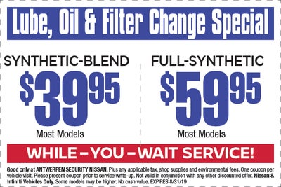 Oil Change Specials >> Web Specials